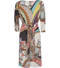 etro belted fantasia dress