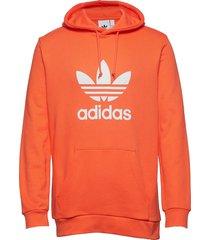 trefoil hoodie hoodie trui oranje adidas originals