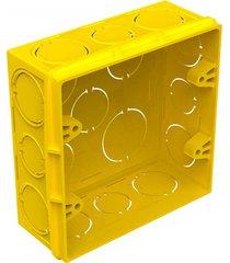 """caixa de luz quadrada em pvc flex 4x4"""" amarela"""