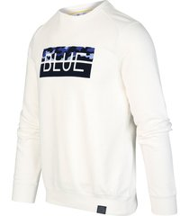 blue industry kbiw19-m33 sweater offwhite wit