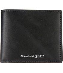 alexander mcqueen logo billfold wallet