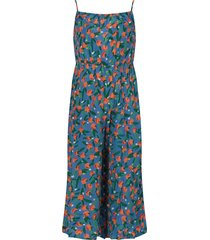 bobo choses blue jumpsuit with all-over oranges