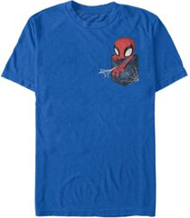 fifth sun marvel men's spider-man left chest pocket short sleeve t-shirt