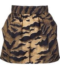 tiger silk woman shorts