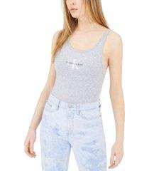 calvin klein jeans monogram logo bodysuit