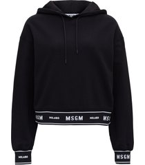 msgm hoodie with logo band