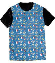 camiseta elephunk estampada france frança europa preta - kanui