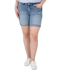 silver jeans co. plus size avery high-rise bermuda shorts