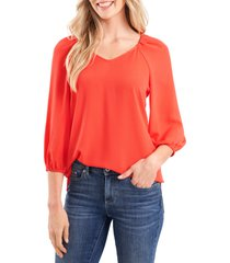 women's cece v-neck top, size xx-large - red