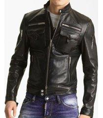 handmade mens slimfit leather jacket, mens slim fit real leather jacket