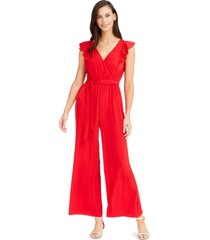 charter club flutter-sleeve jumpsuit, created for macy's