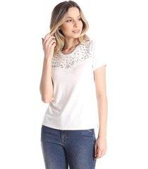 t-shirts daniela cristina gola u 05 10243 12830 branco - branco - g - feminino