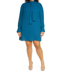 plus size women's city chic bow neck dress, size large - green