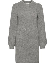 objeve nonsia l/s knit dress dresses knitted dresses grå object