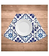 jogo americano para mesa redonda wevans blue kit com 6 pçs