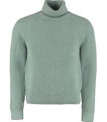 hugo boss gilo turtleneck virgin-wool pullover
