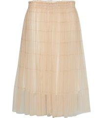 midi tulle skirt kort kjol beige cathrine hammel