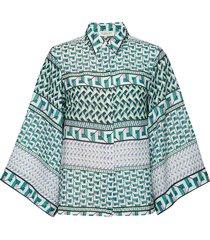 fiona blouse blouse lange mouwen groen by malina