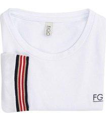 camiseta en algodón blanca casanova - figo