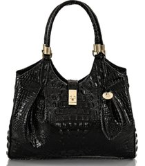 brahmin celia melbourne embossed leather satchel