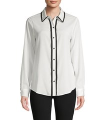 spread-collar shirt