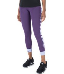 calça legging puma modern sports fold up - feminina - roxo