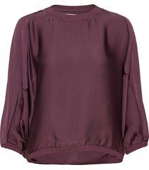 ava sheer blouse blouse lange mouwen rood ahlvar gallery