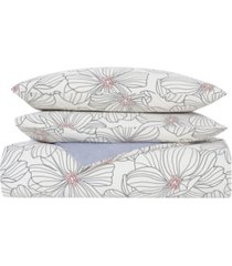 match point floral 3 piece duvet set, full/queen bedding