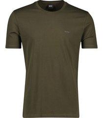 hugo boss t-shirt olijfgroen lecco 80