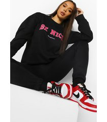 be nice sweater, black