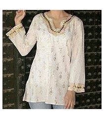 cotton tunic, 'golden glamour' (india)