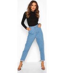 mid rise boyfriend jeans, lichtblauw