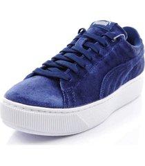 tenis azul puma vikky plataform 364978-01