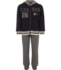 lapin house league cotton track suit set - blue