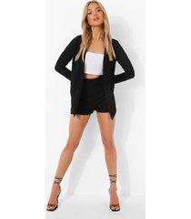 baggy blazer en mansy shorts, black
