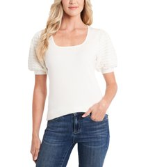 cece square-neck puff-sleeve sweater