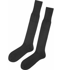 calzedonia - tall egyptian cotton socks, 37-39, grey, men