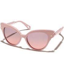 blush chelsea pearl cat-eye sunglasses