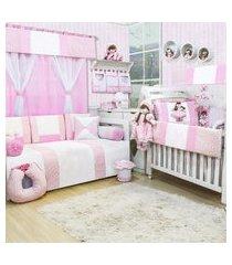 quarto completo padroeira baby princesa manuela rosa
