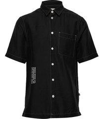 thor shirt overhemd met korte mouwen zwart wood wood