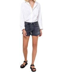 citizens of humanity annabelle cotton cut-off denim shorts