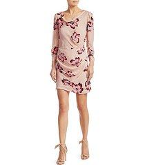 grace floral cowlneck dress