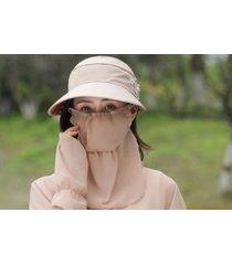 protección solar de verano sombrero para el sol femenino-khaki