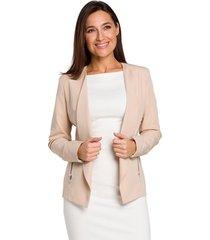 blazer moe m436 tie-waist short - poeder