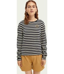 scotch & soda rounded sleeve cotton top