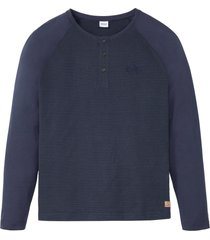 maglia serafino con maniche a raglan (blu) - john baner jeanswear