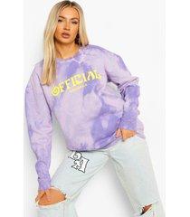 official oversized tie dye sweater, purple