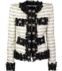 balmain jacket blanc noir