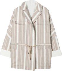 brunello cucinelli striped jacket