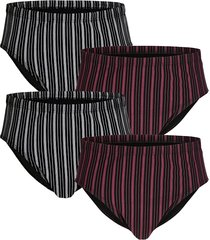 slips g gregory 2x grijs/zwart, 2x bordeaux/zwart